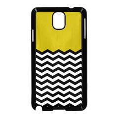 Colorblock Chevron Pattern Mustard Samsung Galaxy Note 3 Neo Hardshell Case (black) by AnjaniArt