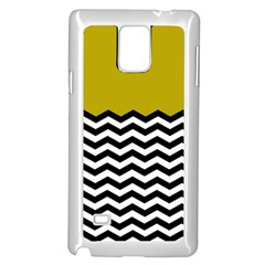 Colorblock Chevron Pattern Mustard Samsung Galaxy Note 4 Case (white) by AnjaniArt