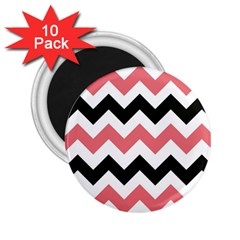 Chevron Crazy On Pinterest Blue Color 2 25  Magnets (10 Pack)  by AnjaniArt