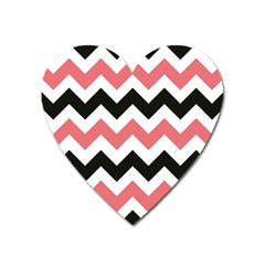 Chevron Crazy On Pinterest Blue Color Heart Magnet by AnjaniArt
