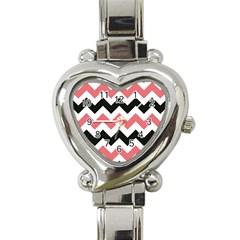 Chevron Crazy On Pinterest Blue Color Heart Italian Charm Watch by AnjaniArt
