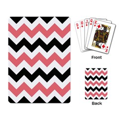 Chevron Crazy On Pinterest Blue Color Playing Card by AnjaniArt