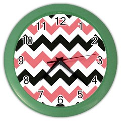 Chevron Crazy On Pinterest Blue Color Color Wall Clocks by AnjaniArt