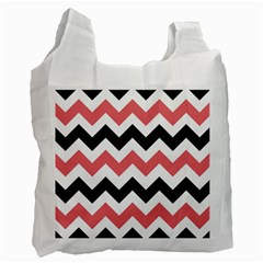 Chevron Crazy On Pinterest Blue Color Recycle Bag (one Side) by AnjaniArt