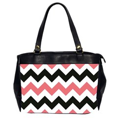 Chevron Crazy On Pinterest Blue Color Office Handbags (2 Sides)  by AnjaniArt