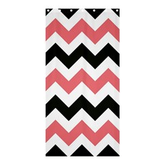 Chevron Crazy On Pinterest Blue Color Shower Curtain 36  X 72  (stall)  by AnjaniArt