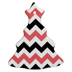 Chevron Crazy On Pinterest Blue Color Christmas Tree Ornament (2 Sides) by AnjaniArt