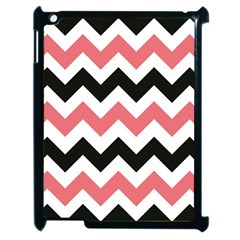 Chevron Crazy On Pinterest Blue Color Apple Ipad 2 Case (black) by AnjaniArt