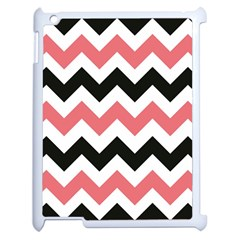 Chevron Crazy On Pinterest Blue Color Apple Ipad 2 Case (white) by AnjaniArt