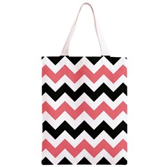 Chevron Crazy On Pinterest Blue Color Classic Light Tote Bag by AnjaniArt