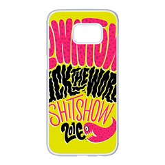 Clowntown Samsung Galaxy S7 Edge White Seamless Case