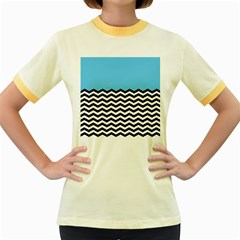 Color Block Jpeg Women s Fitted Ringer T Shirts by AnjaniArt