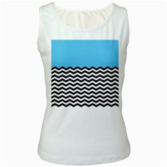 Color Block Jpeg Women s White Tank Top by AnjaniArt