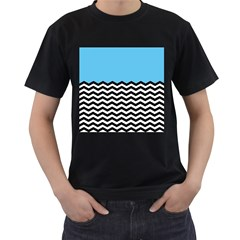 Color Block Jpeg Men s T Shirt (black) (two Sided) by AnjaniArt