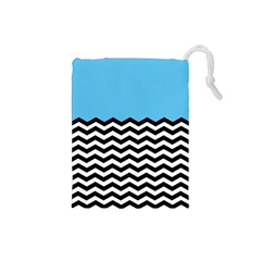 Color Block Jpeg Drawstring Pouches (small)  by AnjaniArt