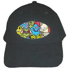 Colourful Monster Flooring Black Cap by AnjaniArt