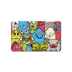 Colourful Monster Flooring Magnet (name Card) by AnjaniArt