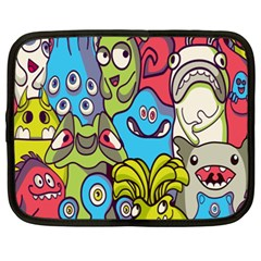 Colourful Monster Flooring Netbook Case (xxl)  by AnjaniArt