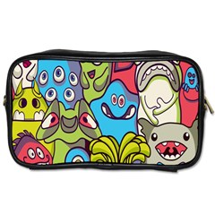 Colourful Monster Flooring Toiletries Bags by AnjaniArt