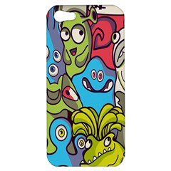 Colourful Monster Flooring Apple Iphone 5 Hardshell Case by AnjaniArt