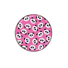 Cute Panda Pink Hat Clip Ball Marker (10 Pack) by AnjaniArt