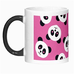 Cute Panda Pink Morph Mugs by AnjaniArt