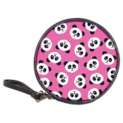 Cute Panda Pink Classic 20 Cd Wallets by AnjaniArt