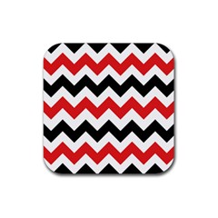 Colored Chevron Printable Rubber Coaster (square)  by AnjaniArt