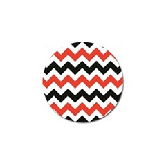 Colored Chevron Printable Golf Ball Marker (10 Pack) by AnjaniArt