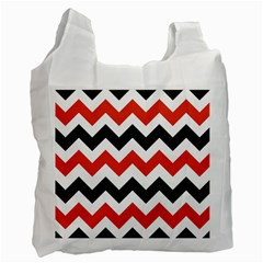 Colored Chevron Printable Recycle Bag (two Side)  by AnjaniArt