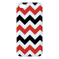 Colored Chevron Printable Apple Iphone 5 Premium Hardshell Case by AnjaniArt