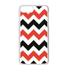 Colored Chevron Printable Apple Iphone 7 Plus White Seamless Case by AnjaniArt