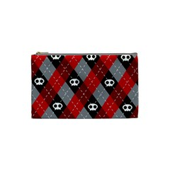 Cute Scull Cosmetic Bag (small)  by AnjaniArt