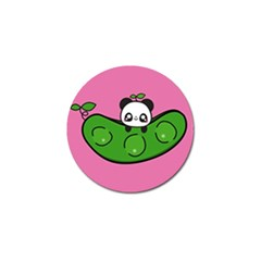 Edamame Panda Pink Cute Animals Golf Ball Marker (10 Pack) by AnjaniArt