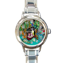 Cosmic Candy Monster Round Italian Charm Watch