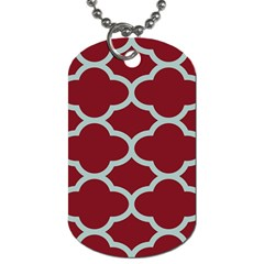 Flower Red Light Blue Dog Tag (two Sides)