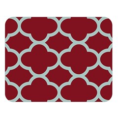 Flower Red Light Blue Double Sided Flano Blanket (large)  by AnjaniArt