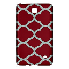 Flower Red Light Blue Samsung Galaxy Tab 4 (7 ) Hardshell Case  by AnjaniArt