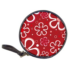 Flower Red Cute Classic 20 Cd Wallets by AnjaniArt