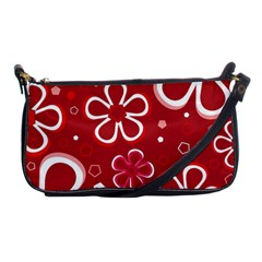 Flower Red Cute Shoulder Clutch Bags by AnjaniArt