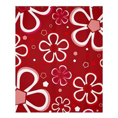 Flower Red Cute Shower Curtain 60  X 72  (medium)  by AnjaniArt