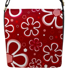 Flower Red Cute Flap Messenger Bag (s) by AnjaniArt