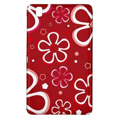 Flower Red Cute Samsung Galaxy Tab Pro 8 4 Hardshell Case by AnjaniArt