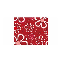 Flower Red Cute Satin Wrap by AnjaniArt