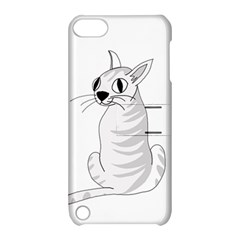 White Cat  Apple Ipod Touch 5 Hardshell Case With Stand by Valentinaart
