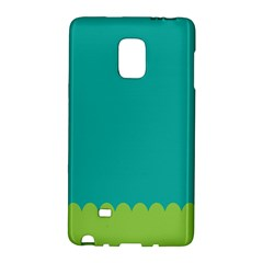 Green Blue Galaxy Note Edge by AnjaniArt
