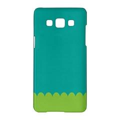 Green Blue Samsung Galaxy A5 Hardshell Case  by AnjaniArt