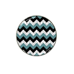 Green Black Pattern Chevron Hat Clip Ball Marker (10 Pack) by AnjaniArt