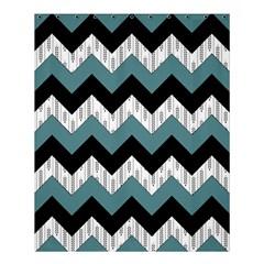 Green Black Pattern Chevron Shower Curtain 60  X 72  (medium)  by AnjaniArt