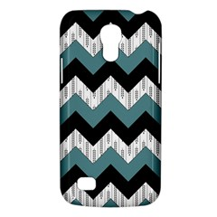 Green Black Pattern Chevron Galaxy S4 Mini by AnjaniArt